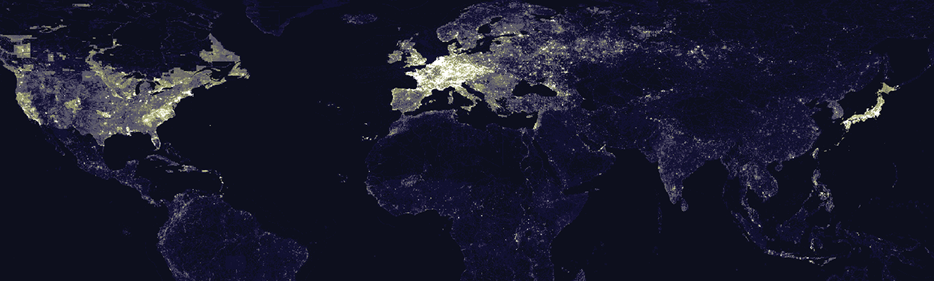 The location of edited content in the world's largest collaborative mapping project: OpenStreetMap.